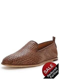 hudson-ipanema-leather-woven-slip-on
