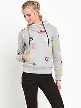 Letters Hooded Top