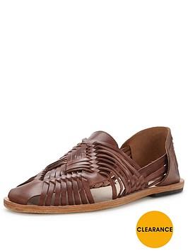 hudson-matonbspleather-woven-shoe