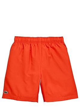 lacoste-poly-sport-short-red