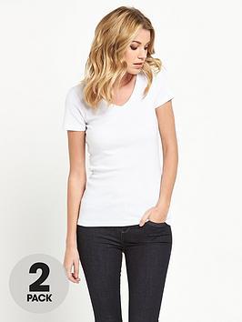 v-by-very-2-pack-v-neck-rib-t-shirts
