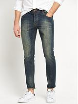 Slim Fit Vintage Coated Jeans