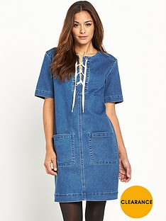 v-by-very-denim-lace-front-pocket-trim-dress