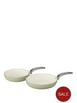 swan-retro-set-of-2-frying-pans-ndash-green