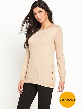 v-by-very-wool-blend-button-side-split-tunic