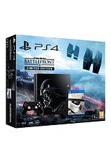 1Tb Limited Edition Black Console with Star Wars: Battlefront and Optional 12 Months Playstation Plus and/or Extra Dualshock 4 Controller