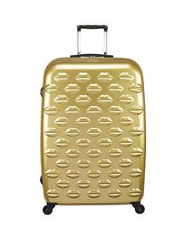 lulu-guinness-hard-sided-4-wheel-lips-large-case