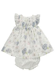 mamas-papas-floral-dress-and-brief-set