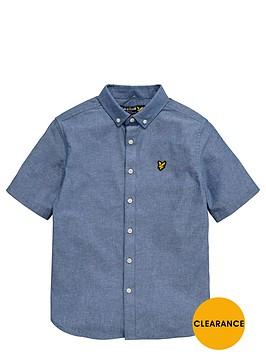lyle-scott-boys-chambray-shirt