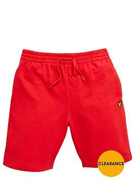lyle-scott-jogger-short-royal-red