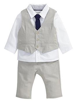mamas-papas-baby-boys-linen-waistcoat-trousers-shirt-and-tie-set
