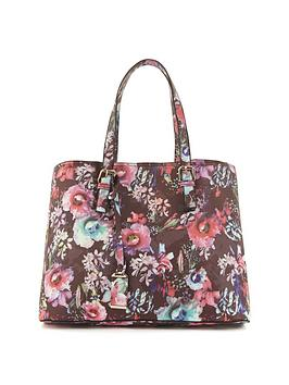 floral-contrast-lining-tote-bag