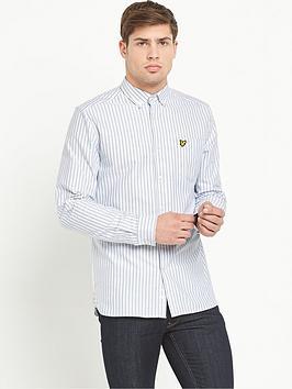lyle-scott-striped-long-sleevenbspoxford-shirt