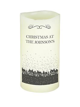 personalised-christmas-silhouette-led-candle