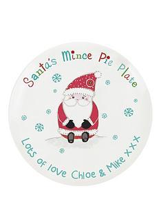personalised-santa-mince-pie-plate