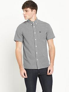 fred-perry-short-sleeve-gingham-mens-shirt