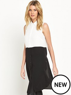 v-by-very-sleeveless-longline-contrast-blouse