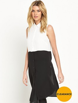 v-by-very-sleeveless-longline-contrast-blouse