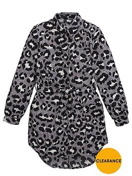 v-by-very-girls-leopard-tie-waist-shirt-dress
