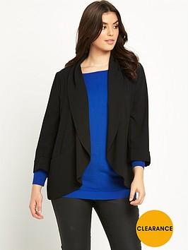 v-by-very-curve-crepe-draped-blazer