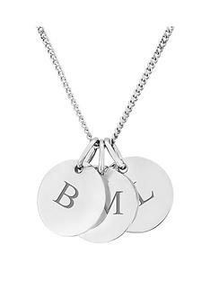 the-love-silver-collection-personalised-sterling-silver-three-pebble-pendant