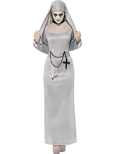 gothic-nun-costume-with-grey-dress-and-headpiece