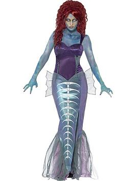 zombie-mermaid-costume-with-top-and-fishtail-skirt
