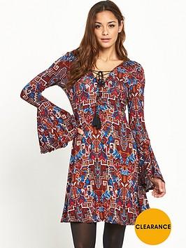 v-by-very-lace-up-front-boho-jersey-dress
