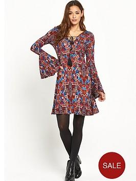 v-by-very-tall-lace-up-front-boho-jersey-dress