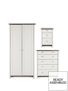 consort-tivolinbsp3-piece-ready-assembled-package-wardrobe-5-drawer-chest-and-bedside-cabinet-5-day-express-delivery