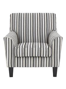 rimininbspstriped-fabric-accent-chair