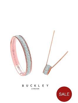 buckley-london-rose-gold-plated-crystal-set-pendant-amp-bangle-set