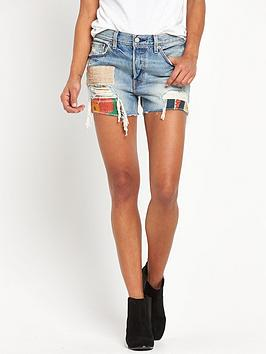 levis-501-patchwork-denim-short