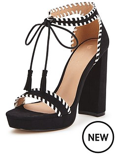 v-by-very-lord-block-heel-tie-front-whipstitch-sandal-black-white