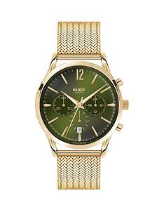 henry-london-henry-london-chiswick-multifunction-rich-green-dial-pale-hamilton-gold-bracelet-mens-watch
