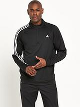 Adidas Golf 3 Stripe 1/4 Zip Top