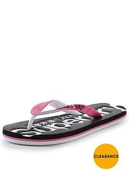 superdry-glitter-logo-flip-flop