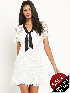 v-by-very-lace-tie-neck-shift-dress