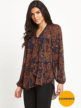 v-by-very-tie-neck-printed-blouse