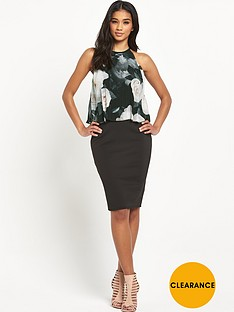 lipsy-pleated-rose-print-2-in-1-shift-dress