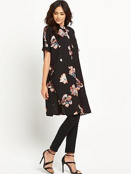 vila-nadine-short-sleeved-oversized-shirt