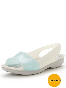 crocs-color-block-flat-slingback-shoe