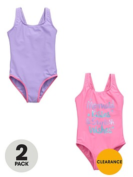 ladybird-girls-mermaid-kisses-swimsuits-2-pack