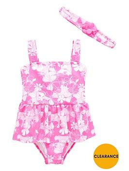 ladybird-girls-floral-swimsuit-and-headbandnbspset-2-piece