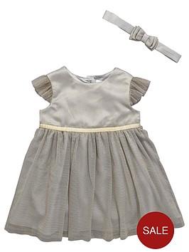 ladybird-baby-girls-lurexnbspoccasion-dress-with-headband-2-piece