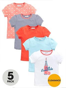 ladybird-girls-heritage-lemonade-t-shirts-5-pack