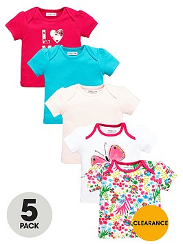 ladybird-baby-girls-flower-and-butterfly-t-shirts-5-pack