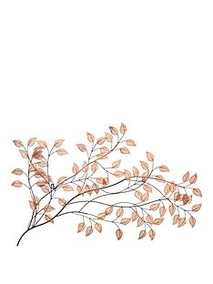 copper-leaves-metal-wall-art