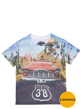 ladybird-boys-graphic-dino-in-car-t-shirt