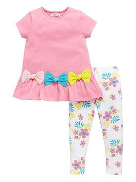 ladybird-girls-3d-jersey-bow-top-and-floral-leggings-set-2-piece